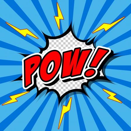 Pow  - Comic Speech Bubble, Cartoon Vector