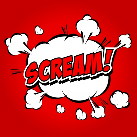 biff: Scream  Comic Speech Bubble, Cartoon