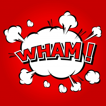 Wham  - Comic Speech Bubble, Cartoon Vector