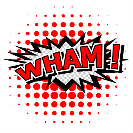 Wham  - Comic Speech Bubble, Cartoon Illustration