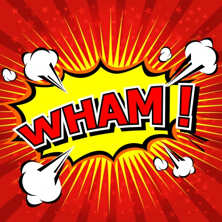 Wham  - Comic Speech Bubble, Cartoon Illustration
