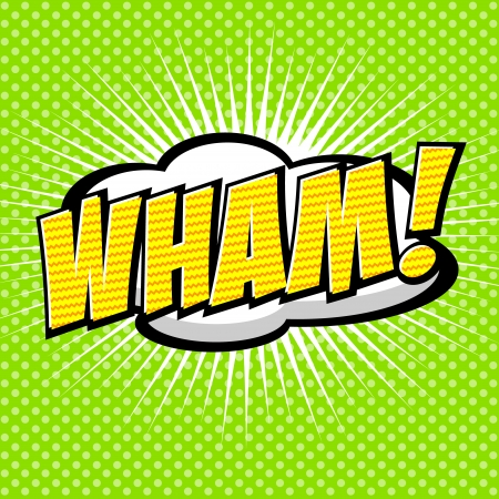 Wham  - Comic Speech Bubble, Cartoon Stock Vector - 25426424