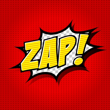 Zap  - Comic Speech Bubble, Cartoon Vector