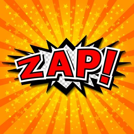 craquelure: Zap - bulle de bande dessin�e, de bande dessin�e Illustration