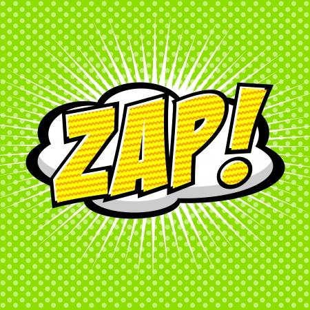 zap: Zap  - Comic Speech Bubble, Cartoon Illustration