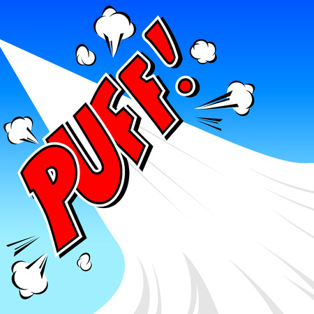 Puff  Comic Speech Bubble, Cartoon Vector
