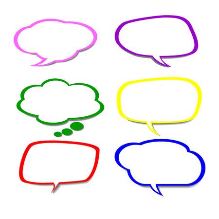 comic speech bubbles,Vector Illustration Stock Vector - 25761836