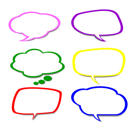 craquelure: des bulles de bandes dessin�es, illustration vectorielle Illustration
