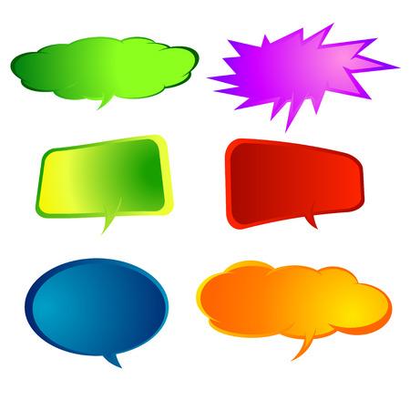 biff: comic speech bubbles,Vector Illustration