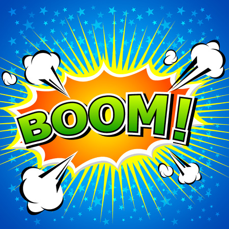 blast: Boom  - Comic Speech Bubble, Cartoon Illustration