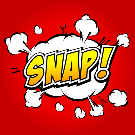 Snap  Comic Speech Bubble, Cartoon