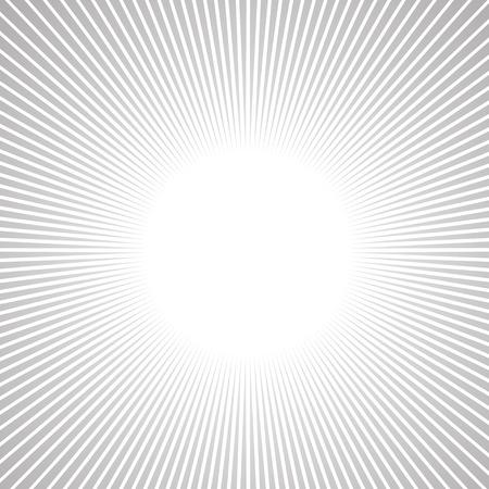 コミックでの放射状の速度ライン グラフィック効果を使用します。