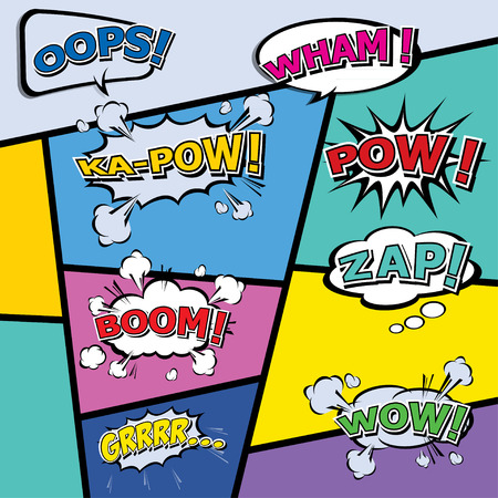 chat box: comic template Vector Pop-Art