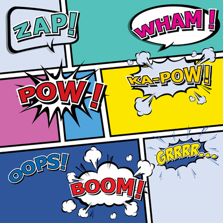 boom box: comic template Vector Pop-Art