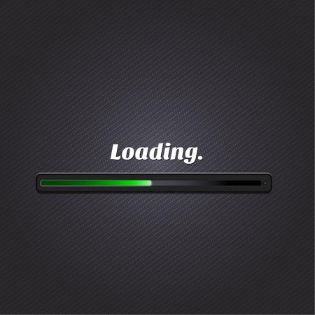 downloading: Green loading bar  Vector  Illustration