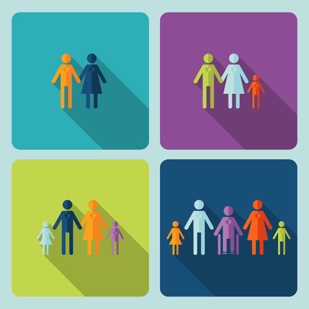 compliant: Icon warm family In modern style   Illustration