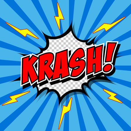 crunch: krash  - Comic Speech Bubble, Cartoon