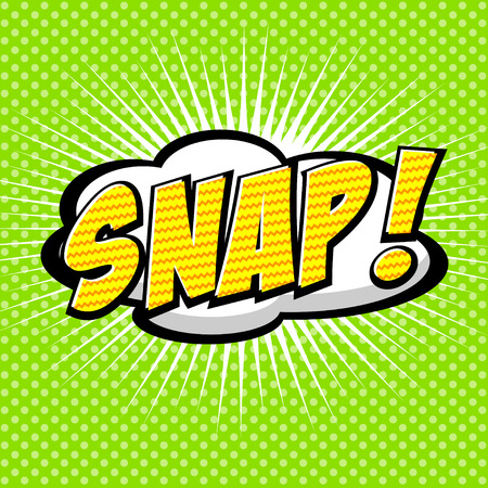 Snap  Comic Speech Bubble, Cartoon  Vector