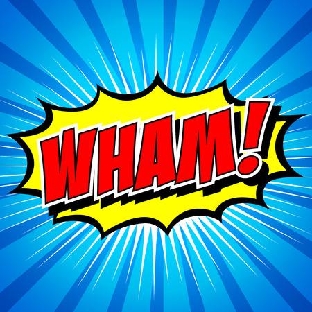 zap: Wham  - Comic Speech Bubble, Cartoon Illustration