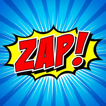 biff: Zap  - Comic Speech Bubble, Cartoon Illustration