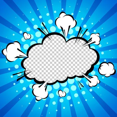 historietas: Discurso de papel de burbujas, ilustración vectorial