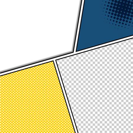 コミック テンプレート ベクトル ポップアート  イラスト・ベクター素材