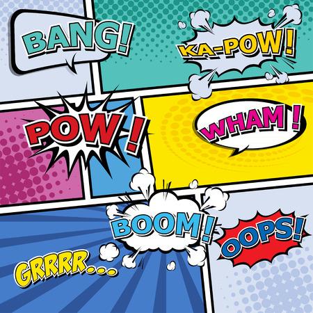 Comic Speech Bubbles  vector illustration   Vector