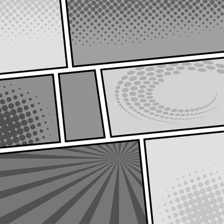 コミック テンプレート ベクトル ポップアート 写真素材 - 27664585