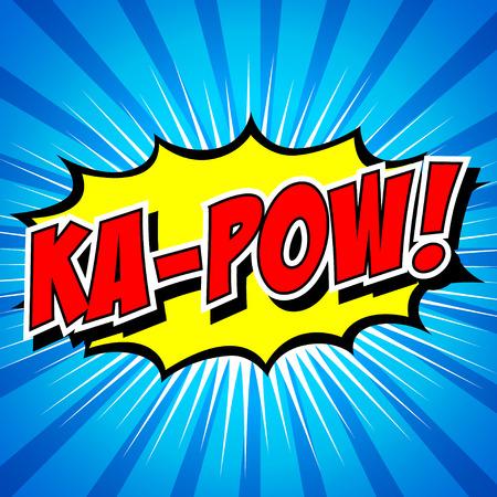 kapow: Ka-Pow  Comic Speech Bubble, Cartoon