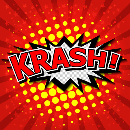 krash  - Comic Speech Bubble, Cartoon  Vector