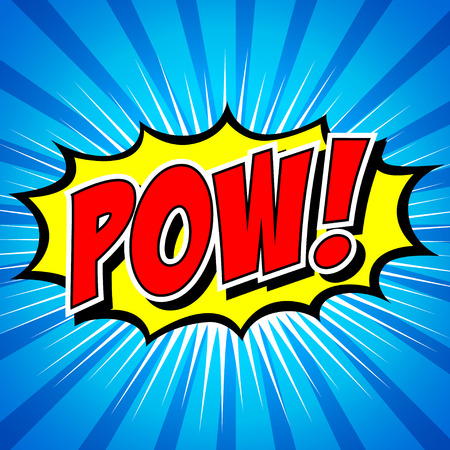 Pow  - Comic Speech Bubble, Cartoon Stock Vector - 27867570