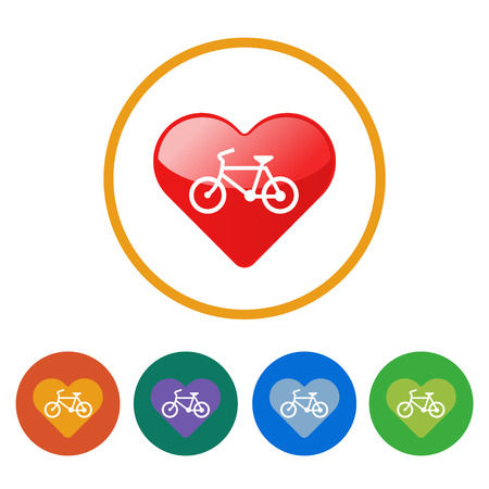 Sign I love bicycles  illustrator EPS 10  Vector