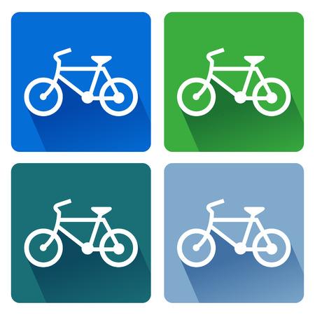 Sign bicycles  illustrator