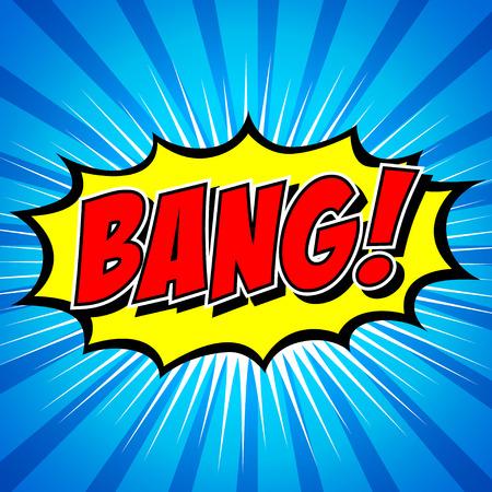Bang  Comic Speech Bubble, Cartoon   Vector
