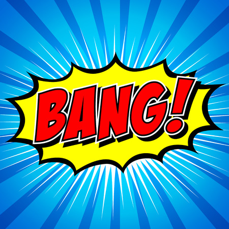 Bang  Comic Speech Bubble, Cartoon