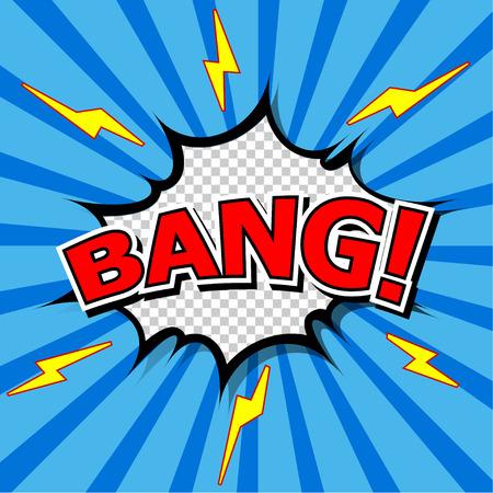 bursting: Bang  Comic Speech Bubble, Cartoon