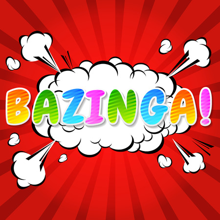 Bazinga  Comic Speech Bubble, Cartoon  Vector