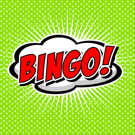Bingo  Comic Speech Bubble, Cartoon  Vector