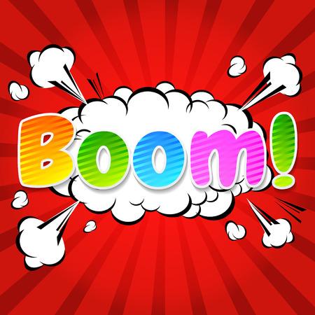 zonk: Boom  - Comic Speech Bubble, Cartoon