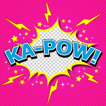 Ka-Pow  Comic Speech Bubble, Cartoon  Vector