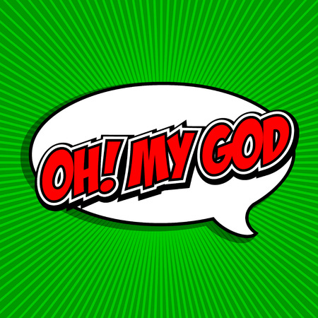 abbreviated: Oh  My God Comic Speech Bubble, Cartoon