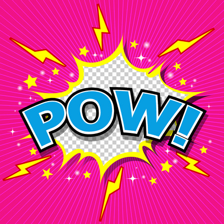 Pow  - Comic Speech Bubble, Cartoon