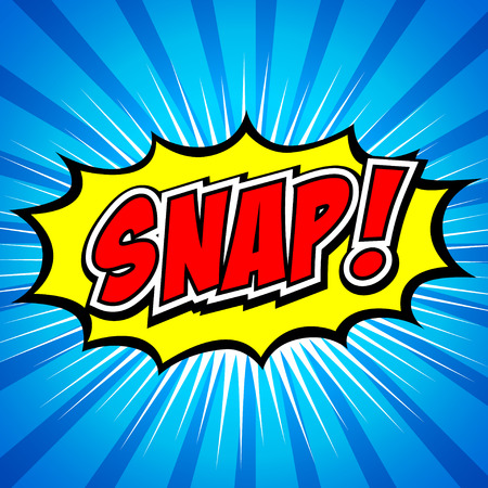 comic book: Snap  Comic Speech Bubble, Cartoon
