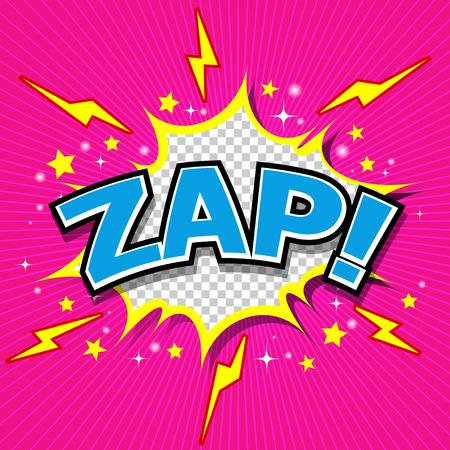 zonk: Zap  - Comic Speech Bubble, Cartoon  Illustration