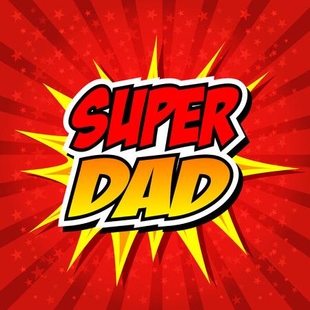해피 아버지의 날 슈퍼 영웅 아빠