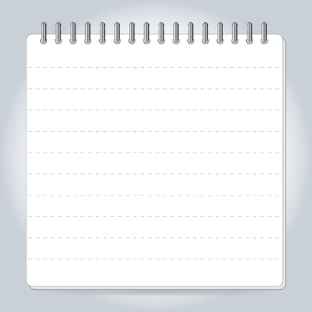 pocketbook: Blank notepad notebook isolated on white vector