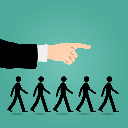 job hunting: Cues walk forward