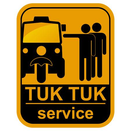 tuk tuk: Vector black tuk tuk service icons set   Illustration