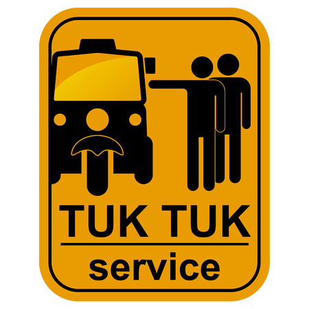 tuk: Vector black tuk tuk service icons set   Illustration