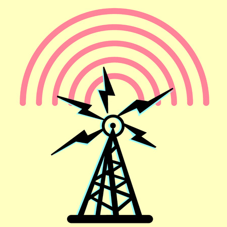 radio tower: On this illustration a tower is represented radio with radio